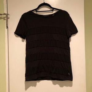 Scotch & Soda Black Stripped T-Shirt